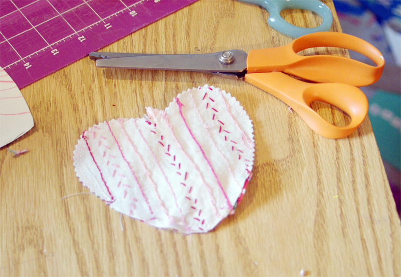 Heart Embroidery Sampler Ornament Tutorial from Muse of the Morning