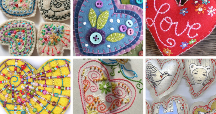 Weekend Inspiration: Embroidered Hearts with Muse of the Morning
