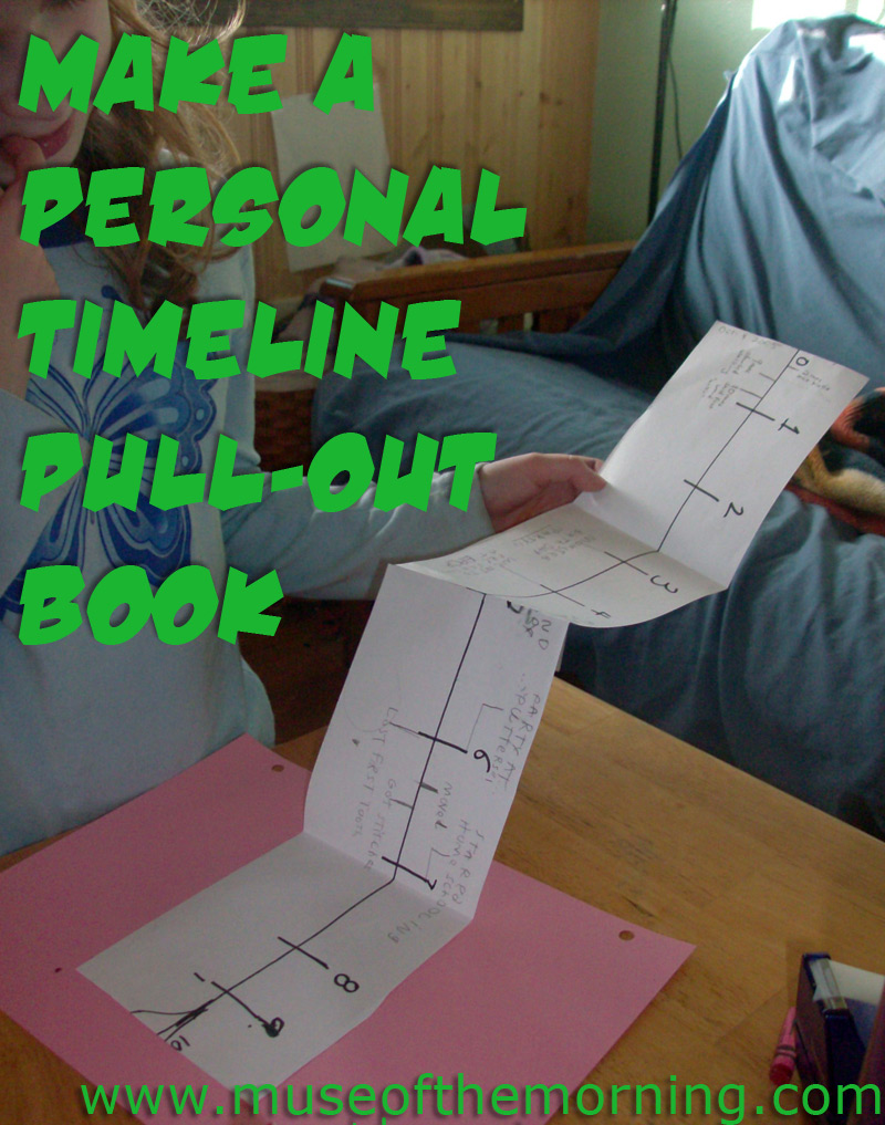 make a personal pull-out timeline with muse of the morning