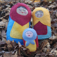 Stuffed Russian Nesting Dolls PDF Sewing Pattern from Muse of the Morning