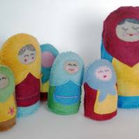 Stuffed Russian Nesting Doll PDF Sewing Pattern from Muse of the Morning