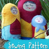 Stuffed Matryoshka Russian Nesting Dolls Sewing Pattern from Muse of the Morning