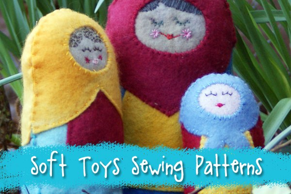 Soft snuggly stuffies sewing patterns from Muse of the Morning