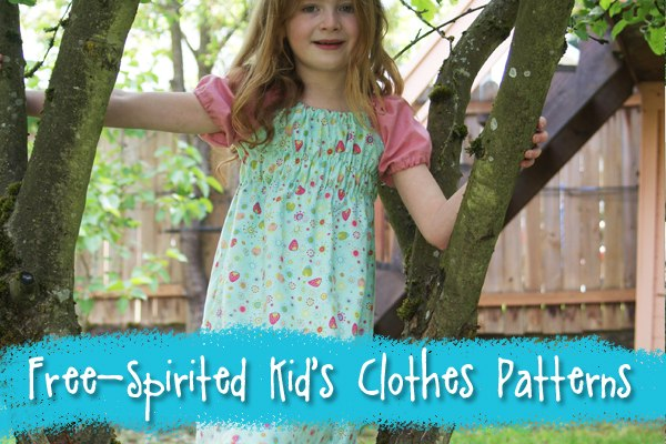 Natural and Easy-wearing clothes sewing patterns for free-spirited children from Muse of the Morning