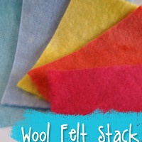 Fire and Ice Hand Dyed Wool Felt Stack from Muse of the Morning