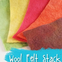 Play Food Hand Dyed Wool Felt Stack from Muse of the Morning