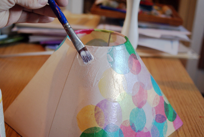 Mod Podged Polka-Dot Lampshade Tutorial from Muse of the Morning