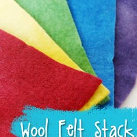 Saturated Primaries Hand Dyed Wool Felt Stack from Muse of the Morning