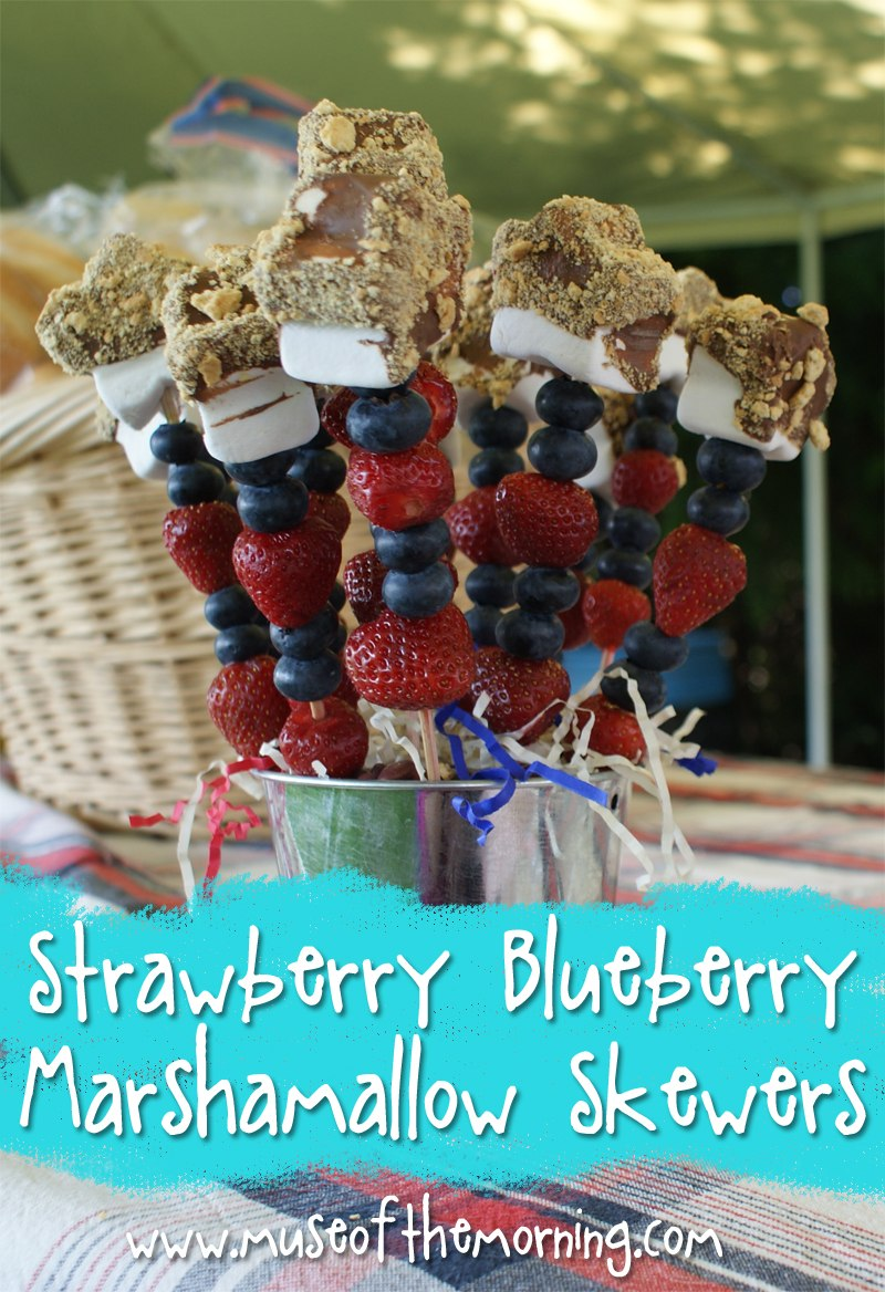 Recipe: Strawberry Blueberry Marshmallow Skewers from Muse of the Morning