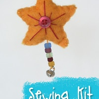 Hand Dyed Wool Felt Star Ornament Sewing Kit