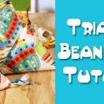 Triangle Bean Bags Tutorial – A Guest Post on Fleece Fun!