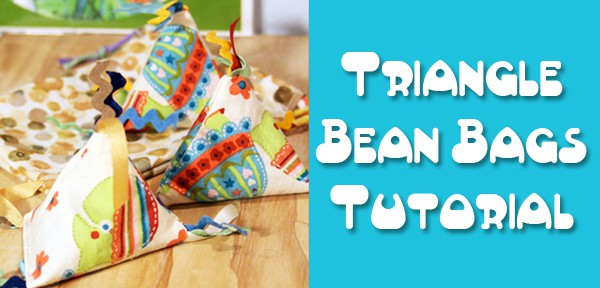Pyramid Bean Bag Tutorial - a guest post on Fleece Fun - post by Muse of the Morning