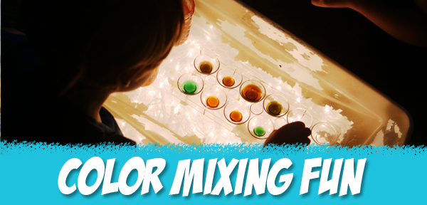 Color Mixing Fun with Kids - from Muse of the Morning