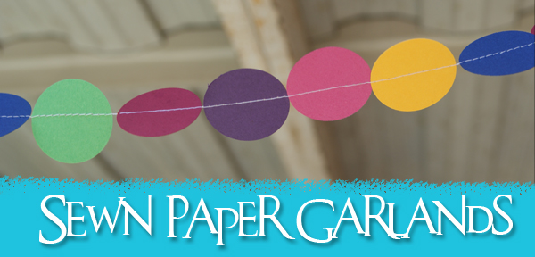 Simple Sewn Paper Garlands Tutorial from Muse of the Morning