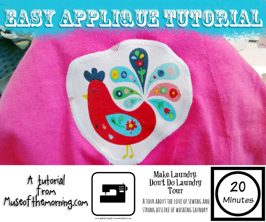 Make your kids a whole bunch of adorable appliqued tshirts for their summer wardrobe as part of the Make Laundry Don't Do Laundry Blog Tour- post by Muse of the Morning