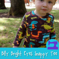 Billy Bright Eyes Snappy Tee - a pattern from Muse of the Morning - snaps at the shoulder for those big baby heads!