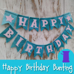 Happy Birthday Bunting Hand Sewing & Needle Felting Pattern from Muse of the Morning