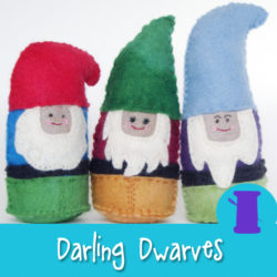 Darling Dwarves - a hand sewing pattern from Muse of the Morning