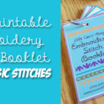 Free Printable: Embroidery Stitch Binder Ring Booklet – Page 1
