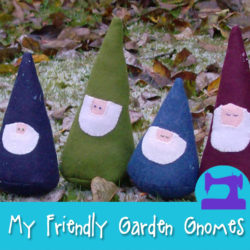 My Friendly Garden Gnomes a sewing pattern from Muse of the Morning