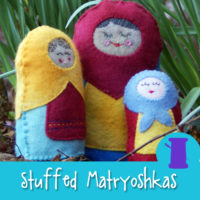 Soft & Squishy Stuffed Matryoshka Hand Sewing Pattern from Muse of the Morning