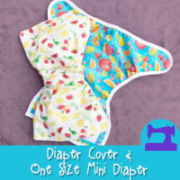 The Artistry Baby Diaper Cover and One Size Mini Diaper Sewing Pattern from Muse of the Morning