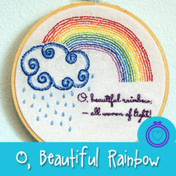 O Beautiful Rainbow - a free ebroidery pattern from Muse of the Morning