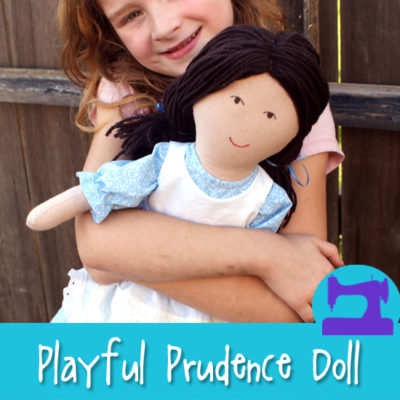 Playful Prudence - a soft doll sewing pattern from Muse of the Morning