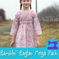 Ramblin' Raglan Mega Pattern Pack - a HUGE sewing pattern pack from Muse of the Morning