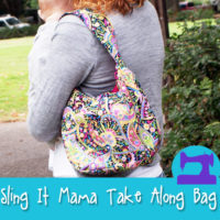 The Sling It Mama Take Along Bag Sewing Pattern from Muse of the Morning