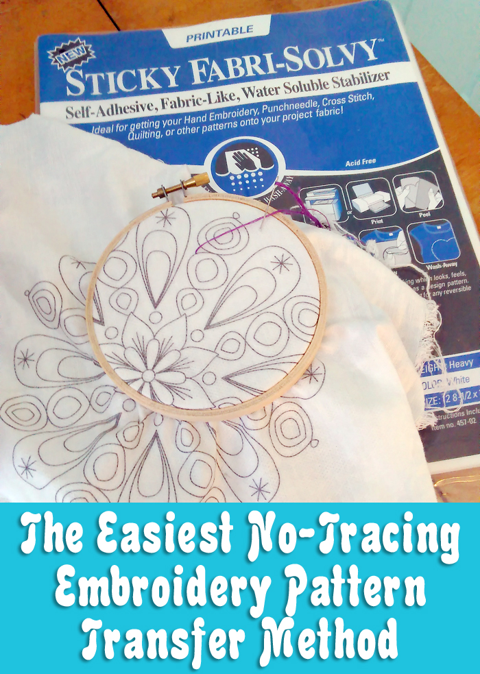 The Easiest No-Tracing Method of Transferring Embroidery Designs