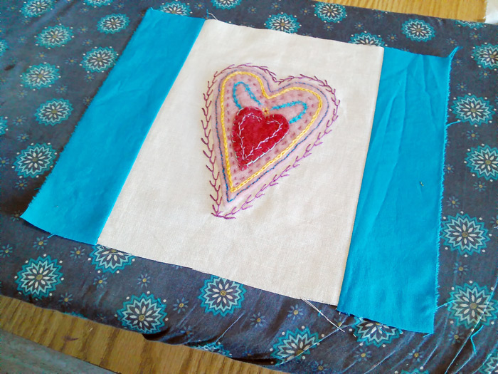 Turn Your Embroidered Artwork into A Wallhanging - a tutorial from Muse of the Morning