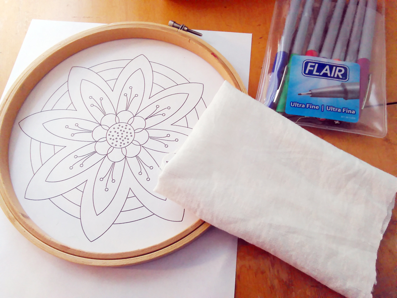 Tutorial The Hoop Window Embroidery Transfer Method Muse Of The