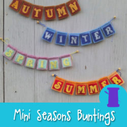 Mini Four Seasons Bunting Hand Sewing or Needle Felting Pattern from Muse of the Morning