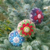 2016 Holiday Ornament Collection - a hand sewing pattern from Muse of the Morning
