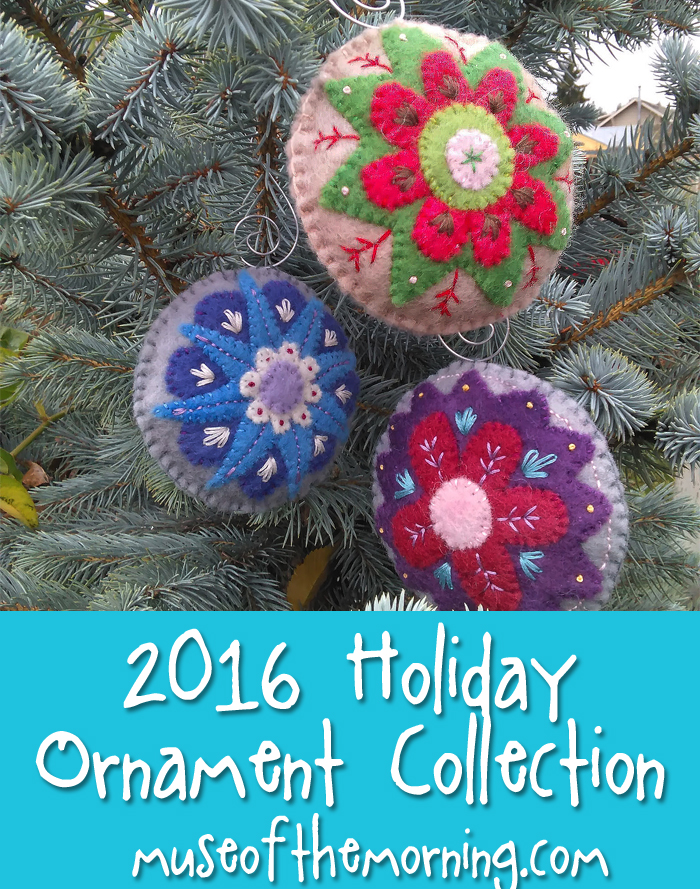 New Pattern 2016 Holiday Ornament Collection Muse Of The Morning