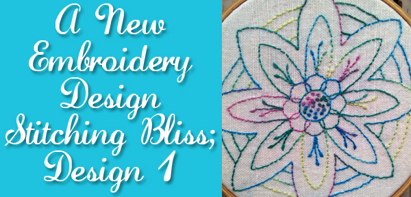 Stitching Bliss; Astral Flower an embroidery design from Muse of the Morning