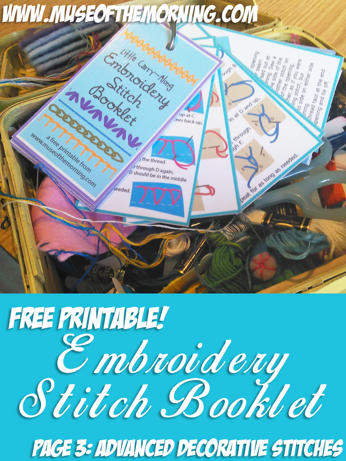 Free Printable Embroidery Stitch Binder Ring Booklet from Muse of the Morning
