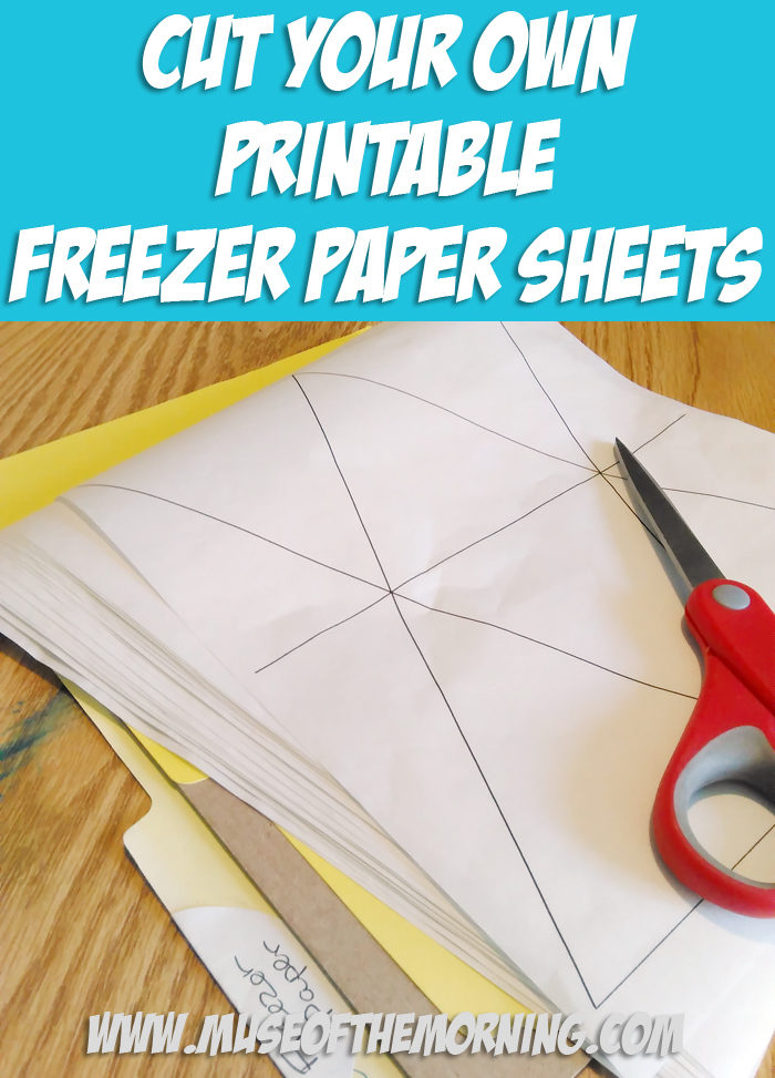 How To Cut Your Own Printable Freezer Paper Sheets for Cutting Felt to save money and get lots of sheets cut at once!