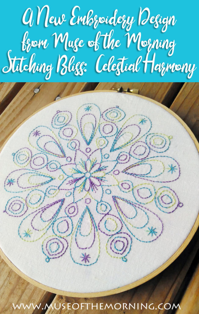 Stitching Bliss: Celestial Harmony - an embroidery pattern from Muse of the Morning