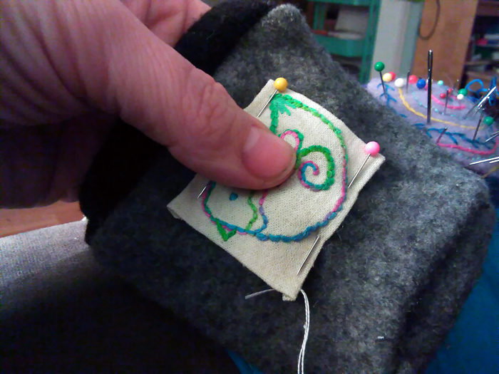 How To Sew an Embroidered Applique onto Any Cloth Surface