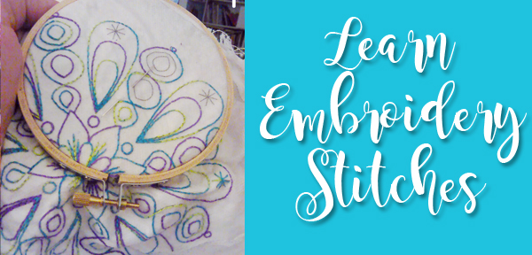 Learn Embroidery Stitches for hand embroidery designs or stitching on felt - a resource from Muse of the Morning