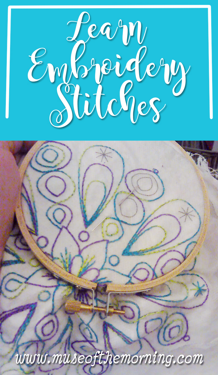 Learn Embroidery Stitches Muse Of The Morning Pdf Sewing