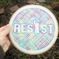 RESIST - and embroider pattern from Muse of the Morning - all proceeds go to the ACLU