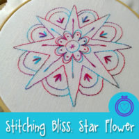 Stitching Bliss Embroidery Design - Star Flower by Muse of the Morning