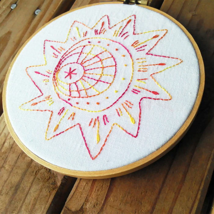 Sun Burst - a Stitching Bliss embroidery design from Muse of the Morning