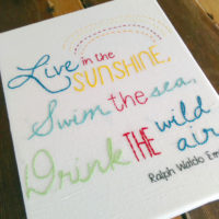 Live In the Sunshine Embroidery Design from Muse of the Morning